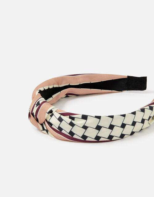 Geo Print Knot Headband , , large