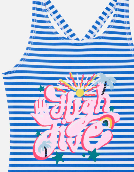 Stripe High Five Swimsuit Multi, Multi (BRIGHTS-MULTI), large