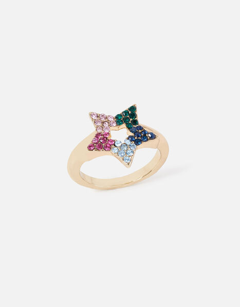 New Decadence Pave Star Ring Multi, Multi (BRIGHTS-MULTI), large