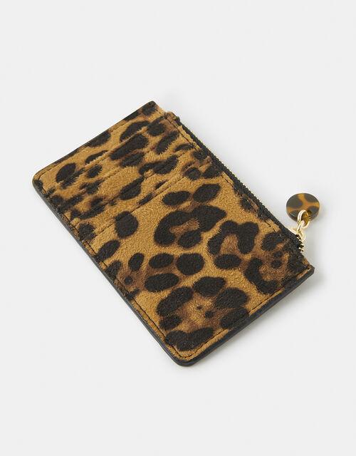 Shoreditch Leopard Card Holder, , large