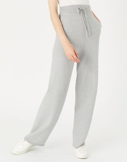 LOUNGE Straight Leg Knit Joggers, Grey (GREY), large