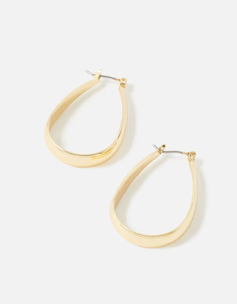 Berry Blush Oval Long Hoops , , large