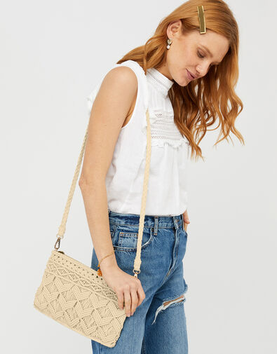 Macrame Pouch Bag, , large