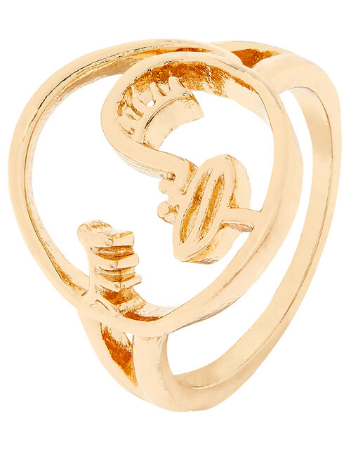 Face Ring, Gold (GOLD), large