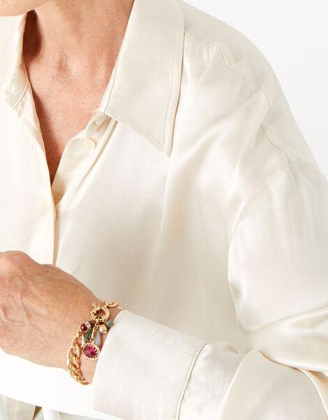 Berry Blush Gem Chunky Bracelet, , large