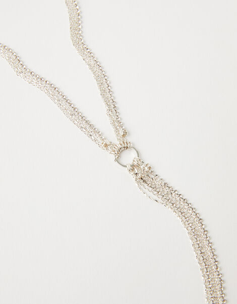 Sparkle and Chain Lariat Necklace, , large