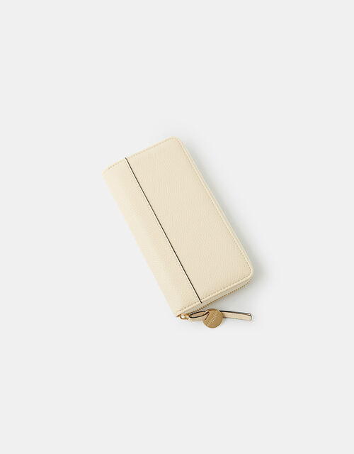 Large Zip-Around Wallet, Cream (CREAM), large