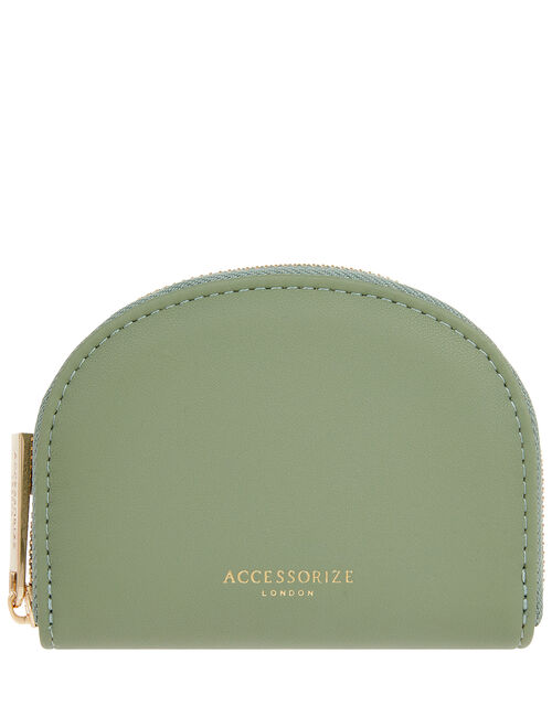Crescent Coin Purse, Green (GREEN), large