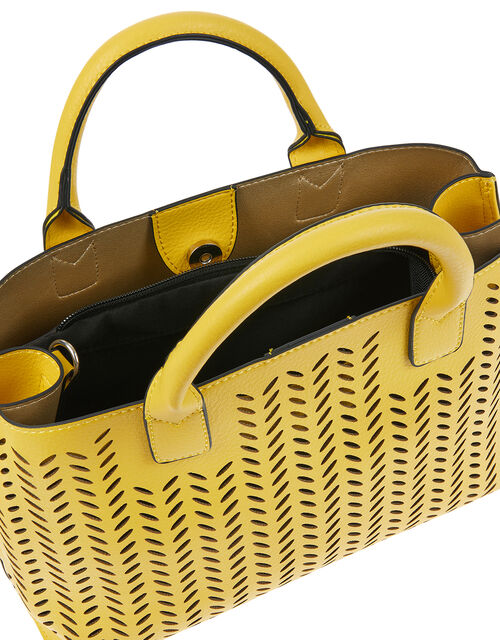 Cut-Out Handheld Bag, Yellow (YELLOW), large