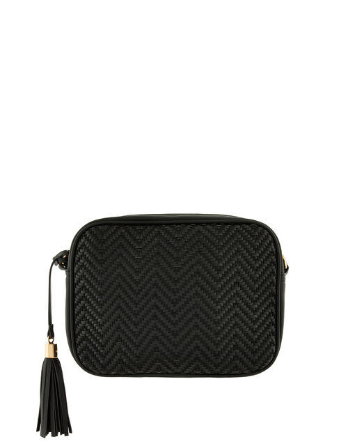 Weave Textile Camera Bag, Black (BLACK), large