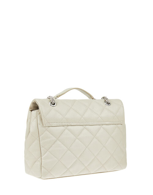 Georgie Quilted Leather Bag, , large