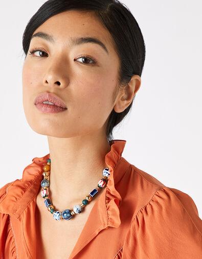 Cassie Ceramic Bead Collar Necklace, , large