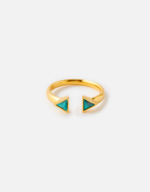 Healing Stones Gold-Plated Ring - Turquoise, Gold (GOLD), large