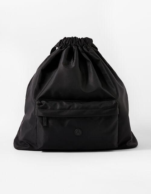 Dani Drawstring Gym Bag, Black (BLACK), large