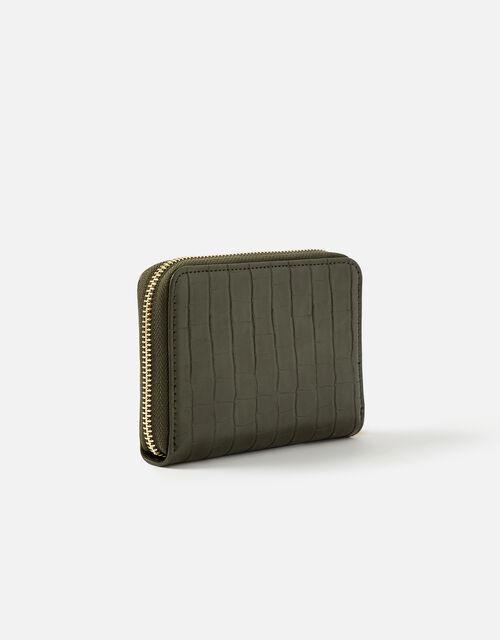 Medium Zip Purse Wallet, Green (KHAKI), large