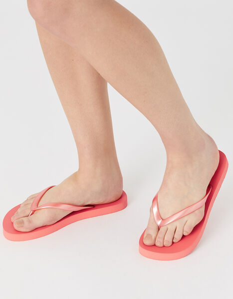 Plain EVA Flip Flops Orange, Orange (CORAL), large