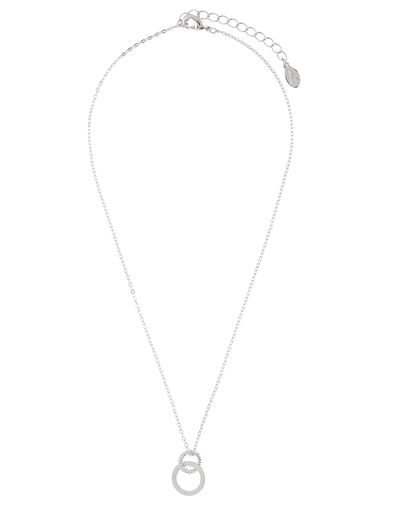 Linked Circle Pendant Necklace, , large