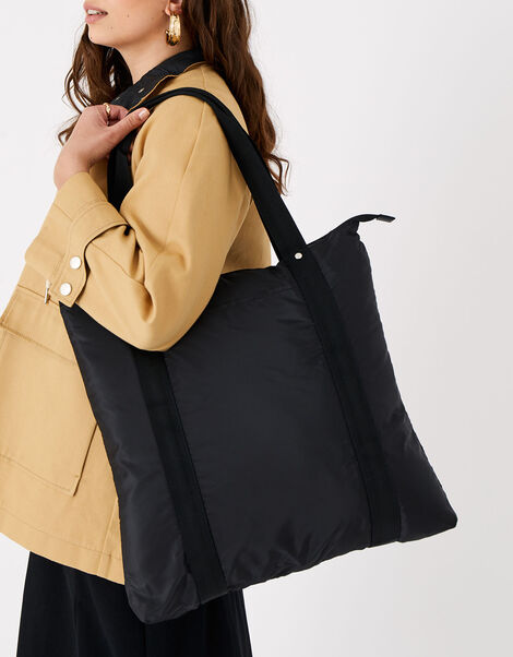 Packable Shopper Bag Black, Black (BLACK), large