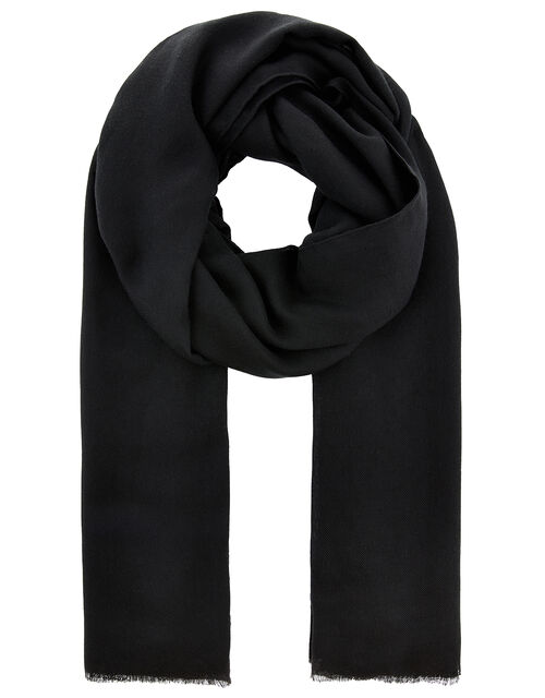 Sorrento Lightweight Scarf, Black (BLACK), large