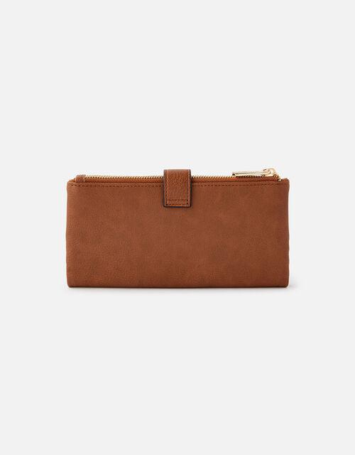 Freya Push Lock Wallet , Tan (TAN), large