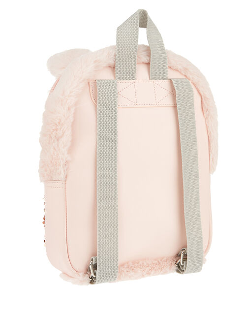 Bella Bunny Fluffy Sequin Backpack, , large
