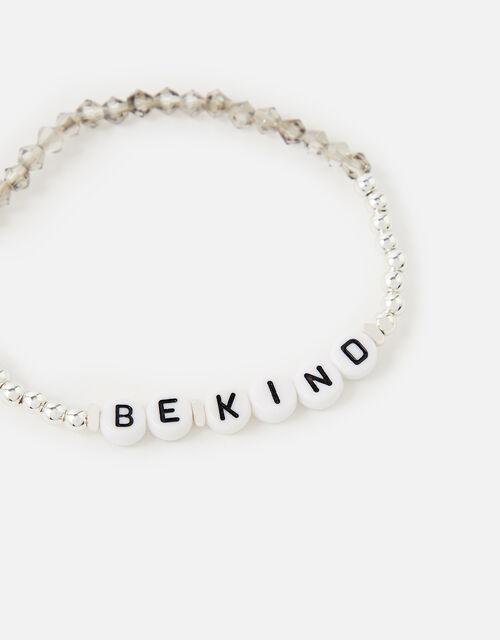 Be Kind Stretch Bracelet , Silver (SILVER), large