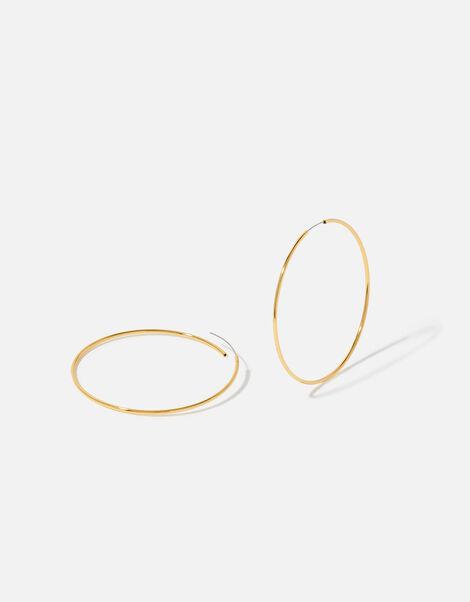 Gold-Plated Hoop Earrings, , large