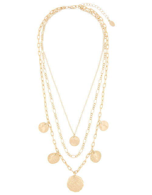 Roman Coin Multi-Row Necklace, , large