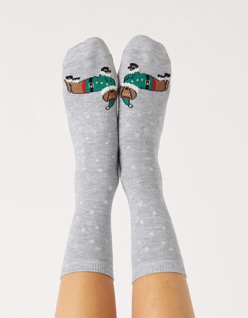 Buddy Sausage Dog Christmas Socks, , large