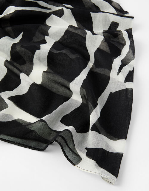 Gibra Monochrome Animal Scarf, , large