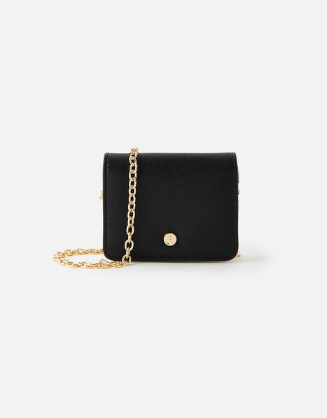 Cali Colourblock Chain Cardholder Black, Black (BLACK), large