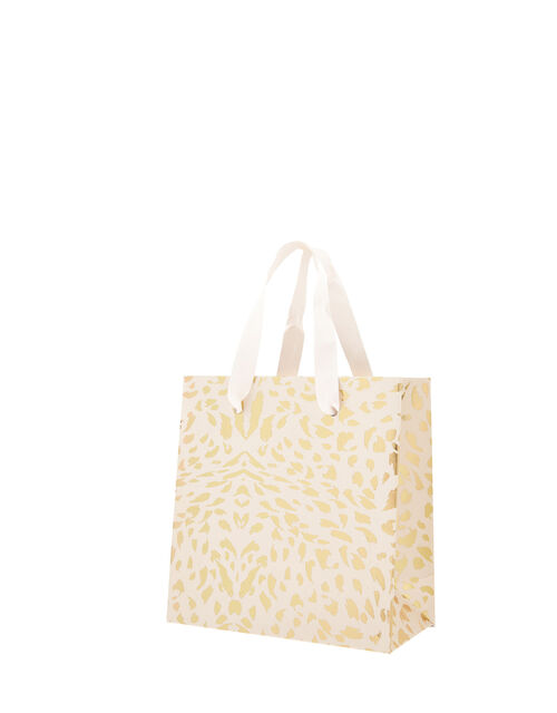 Small Gold Foil Print Gift Bag, , large
