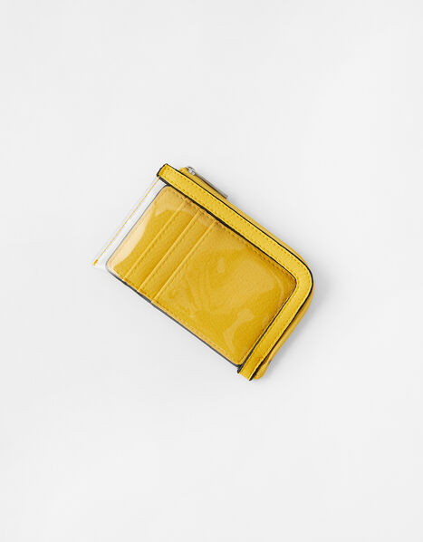 Clear Card Holder Yellow, Yellow (YELLOW), large