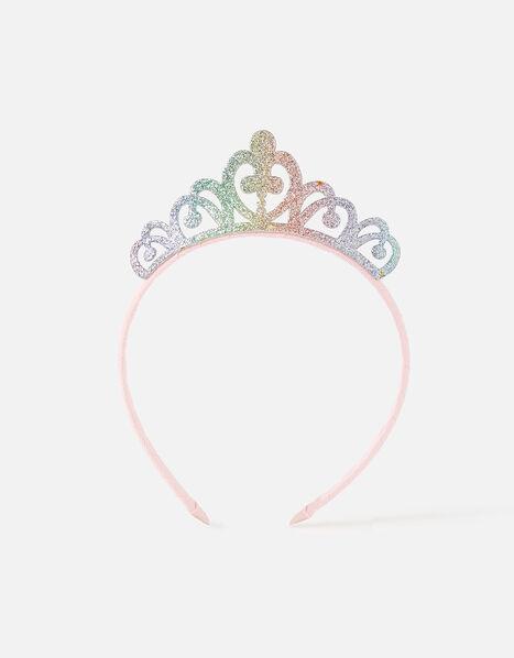 Rainbow Glitter Tiara, , large