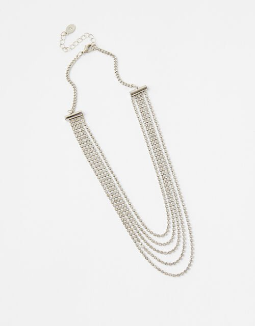 Layered Cupchain Collar Necklace, , large