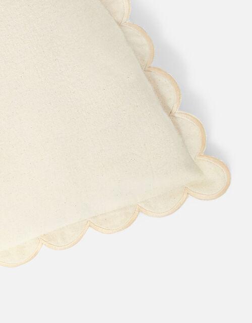 Scallop Edge Cushion Cover, Natural (NATURAL), large