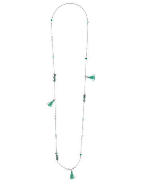Mini Station Tassel Rope Necklace, , large