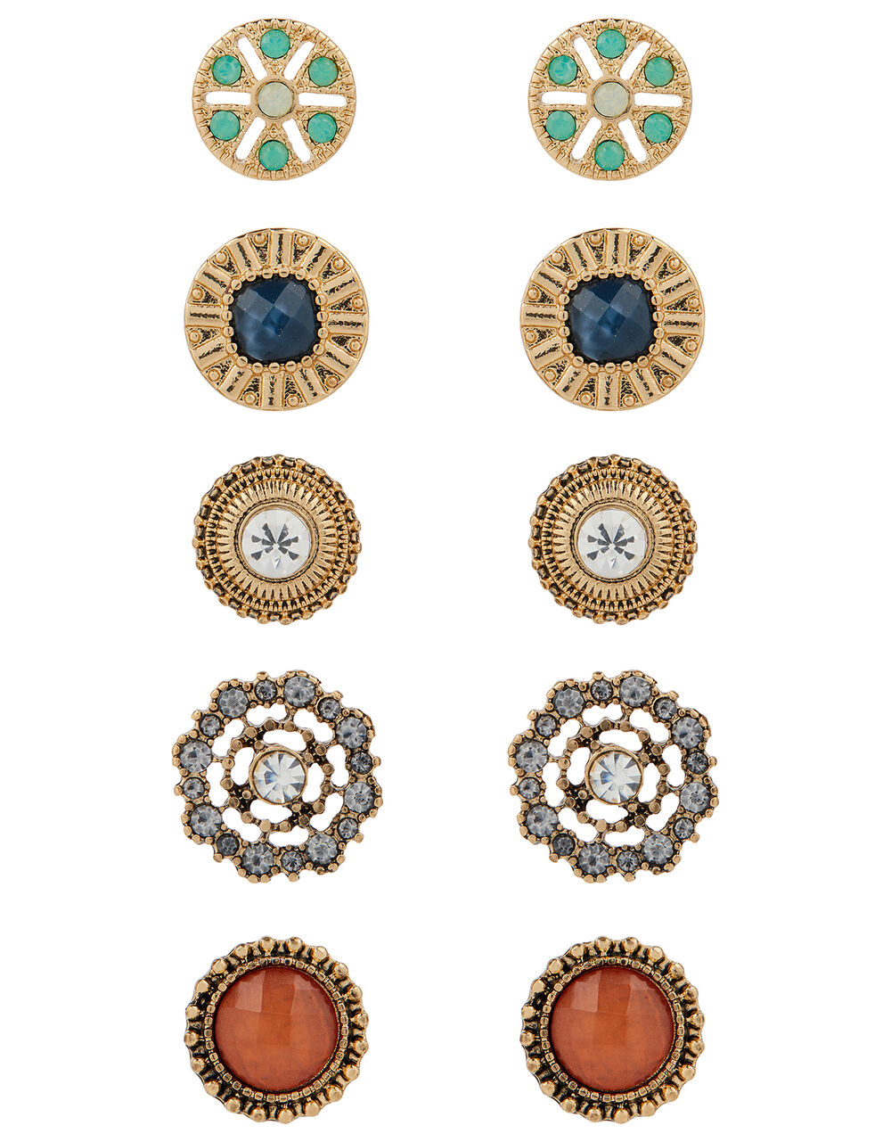 Simplicity Stone Stud Earring Multipack, , large