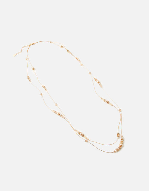 Faceted Bead Rope Necklace Set, , large
