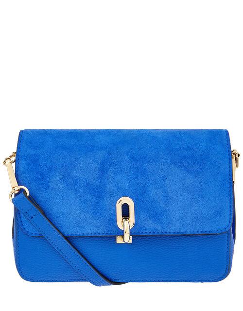 Carly Cross-Body Bag, Blue (COBALT), large
