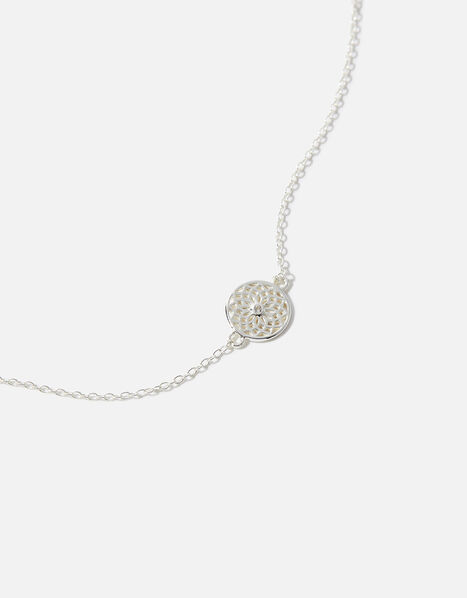 Sterling Silver Filigree Bracelet, , large