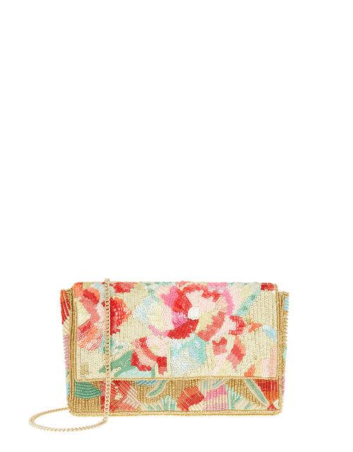 Tasmin Floral Embellished Clutch Bag, , large
