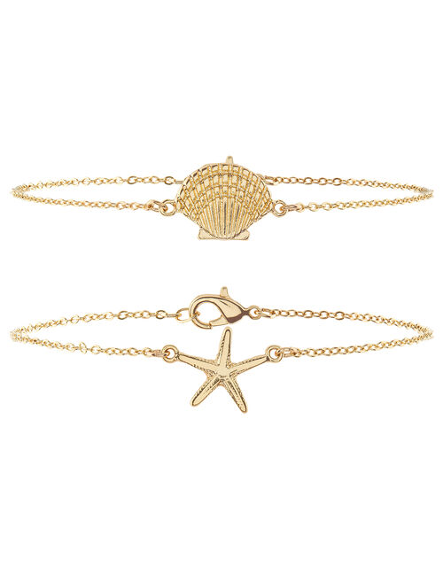 Starfish and Cockle Shell Anklet Set, , large