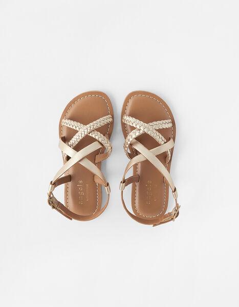 Plaited Leather Sandals Multi, Multi (BRIGHTS-MULTI), large