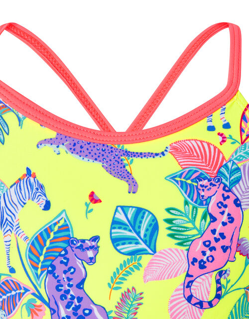 Wild Jungle Printed Bikini Set with Recycled Polyester, Multi (BRIGHTS-MULTI), large