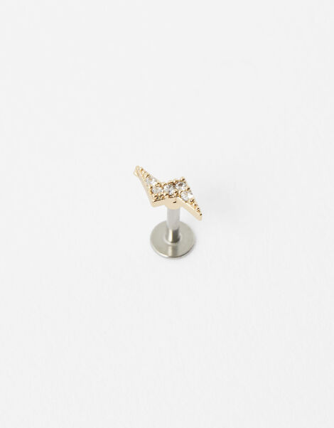 Sparkle Bolt Flat-Back Stud, , large