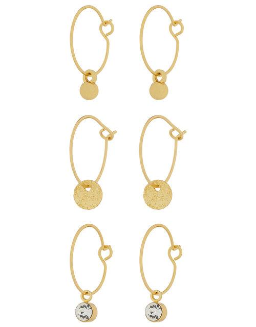 3X Simple Hoop Earring Set, , large