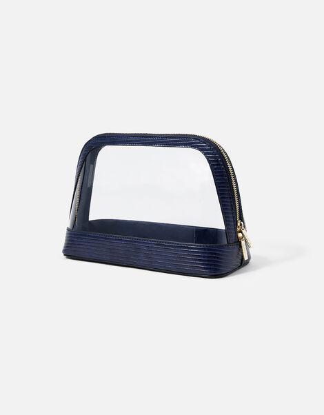 Large Clear Make Up Bag  Blue, Blue (NAVY), large