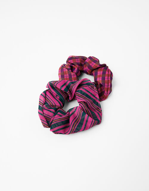 Check and Stripe Scrunchie Set, , large