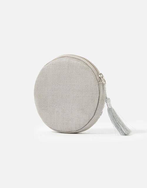 Sequin Circular Coin Purse, , large